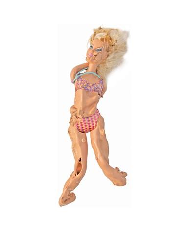 Barbie, Barbie Portrait, Barbie Photograph, Portrait of Woman, Woman Portrait, Melted Doll Sculpture, Melting Barbie, Melted Dolls, Melting Barbie, Melted Barbie, Stalactite Sculpture, Stalactite Art, Quantum Physics Theory, Matter, Matter of Dolls, Woman