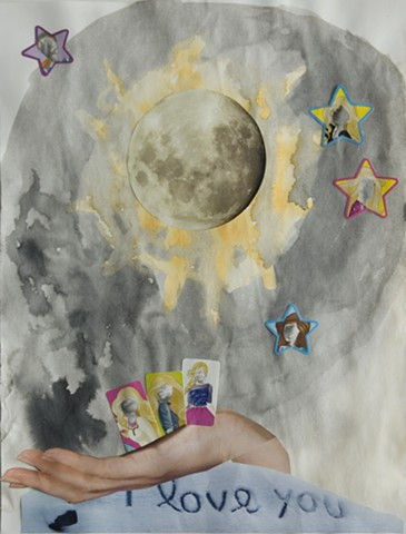 Barbie and the Moon, Lunar Barbie, Lunar, Moon phase, women and moon, moon and children, imagination, woman art, feminist art