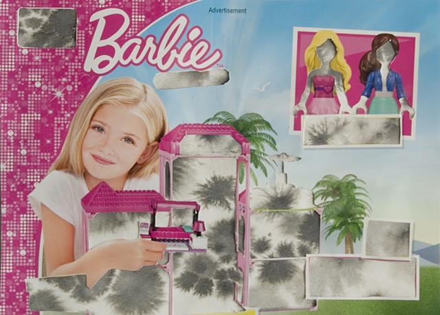 Barbie dream house, dream house, barbie, doll house, fine art, feminist art, feminist doll art, home, imagination, female roll