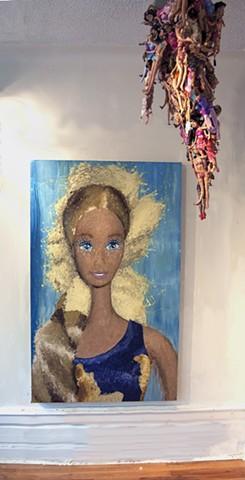 Barbie, Barbie Portrait, Barbie Painting, Portrait of Woman, Woman Portrait, Woman Painting, Woman's Culture, Woman Ideologies, Melted Doll Sculpture, Melting Barbie, Melted Dolls, Melting Barbie, Melted Barbie, Stalactite Sculpture, Stalactite Art, Quant