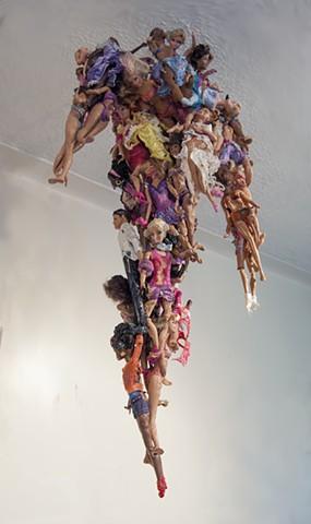 Melted Doll Sculpture, Melting Barbie, Melted Dolls, Melting Barbie, Melted Barbie, Stalactite Sculpture, Stalactite Art, Quantum Physics Theory, Matter, Matter of Dolls, Woman's Culture, Woman Ideologies, Elizabeth Fonacier, Cultural Ideologies, Feminism