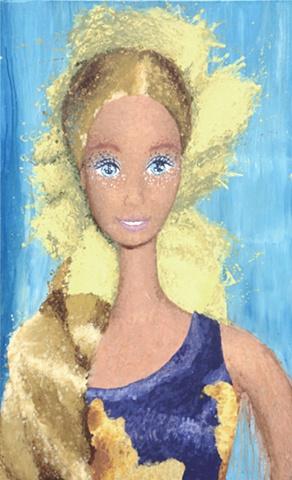 Barbie Portrait, Tropicana Barbie, Hawaiian Barbie, Melted Doll, Quantum Physics Theory, Matter, Matter of Dolls, Elizabeth Fonacier, Cultural Ideologies, Feminism, belief system, children's culture, gender roles, identity, feminine identity, patriarchy