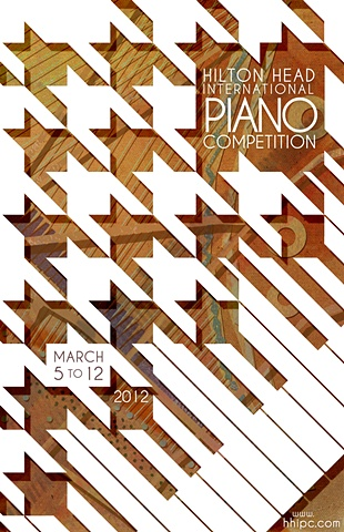 piano poster 3D illustration hilton head competition keys