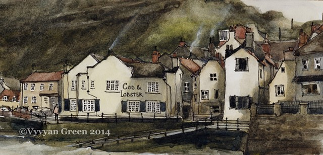 Cod and Lobster Pub, Staithes, North Yorkshire.