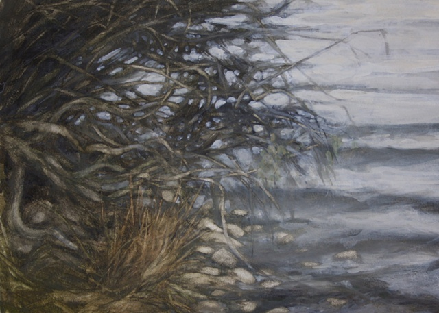 Watercolour painting Semer Water, Yorkshire Dales  by Vyvyan Green
