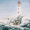 Lighthouse at Peggys Cove, Nova Scotia