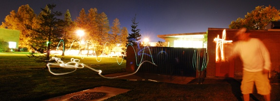 Student image of night photography