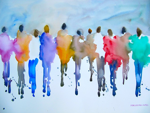 Passionate People in Motion — Giclee Print, Various Sizes, Free Shipping USA