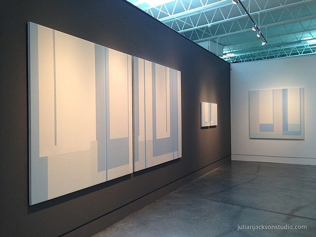 Installation view: Other Rooms; exhibition at Page Bond Gallery, March 2015 left: Other Rooms, center: Garden,  right: Seascape