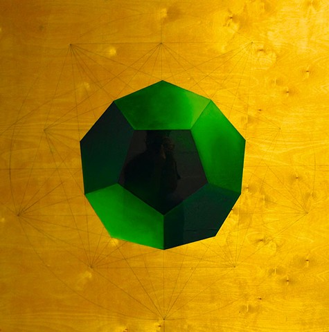 Dodecahedron in Green II