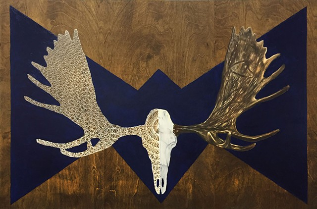 Moose Skull on Cobalt