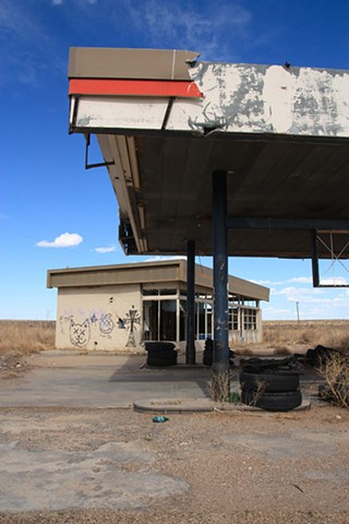 gas station-off Route 66, New Mexico