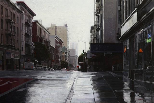 tenderloin sf rain greg gandy painting