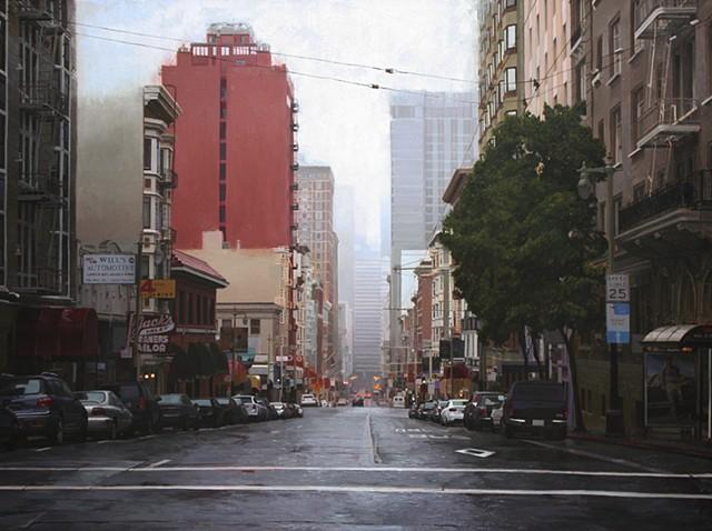Rain on Post Street II