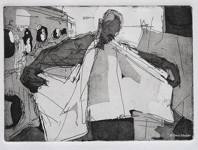 Laundromat - Man/wings