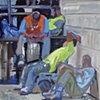 Construction Workers Resting