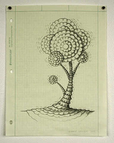 Tree, drawing, pencil