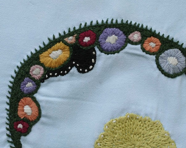 HAND EMBROIDERED NAPKINS: Arc  DETAIL