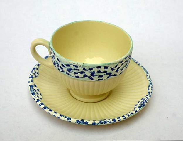 HAND PAINTED CHINA: Snake Eddy
