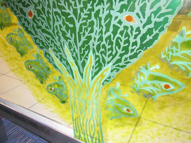 MIMIC-detail of Luna Moths surrounding Cyprus Tree