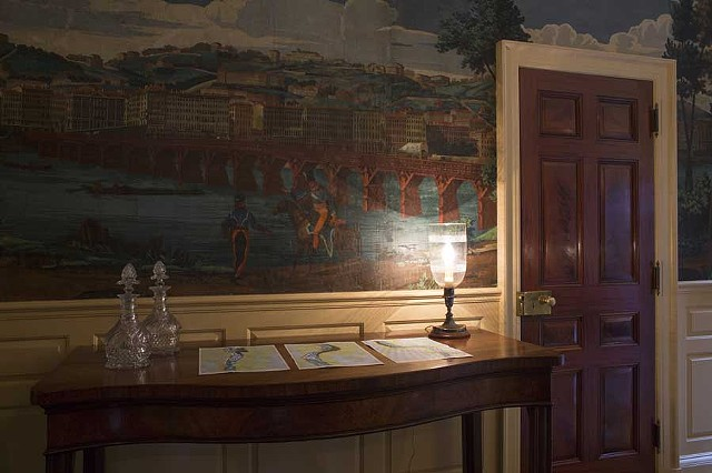 RIVER CAMPAIGN: River charts in upper hallway of Longue Vue House