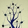 TREE: BLUE SILHOUETTE: Twine