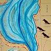 RIVER ROOM, 2013, Detail Lower Mississippi River Chart #2