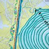 RIVER ROOM, 2013, Detail Lower Mississippi River Chart #104