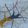 HAND EMBROIDERED NAPKINS: Tree Pattern  DETAIL