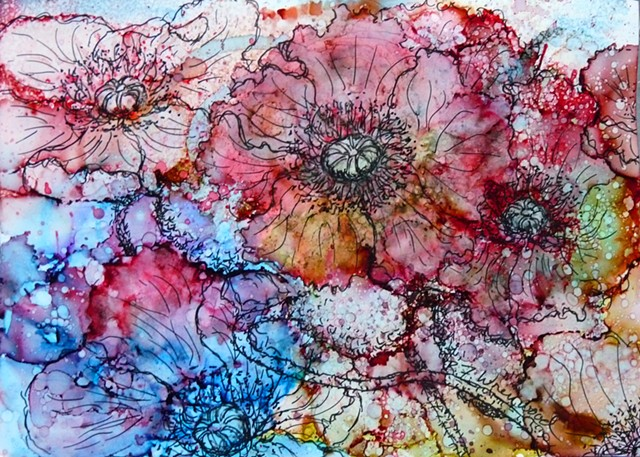 Alcohol Ink on Yupo with