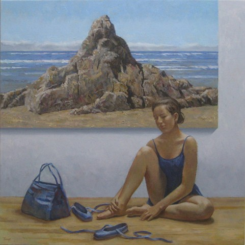 Dancer with Beach Rock Painting