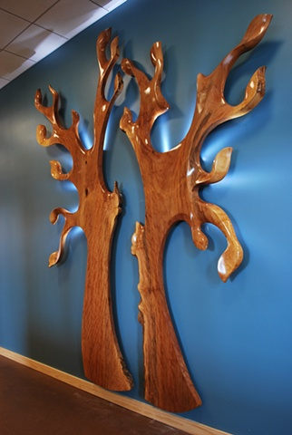reclaimed wood, urban forestry, wood sculpture, chainsaw