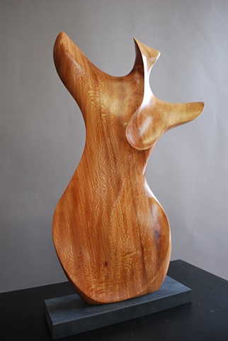Wood sculpture, relaimed wood, urban forest, sycamore, chainsaw
