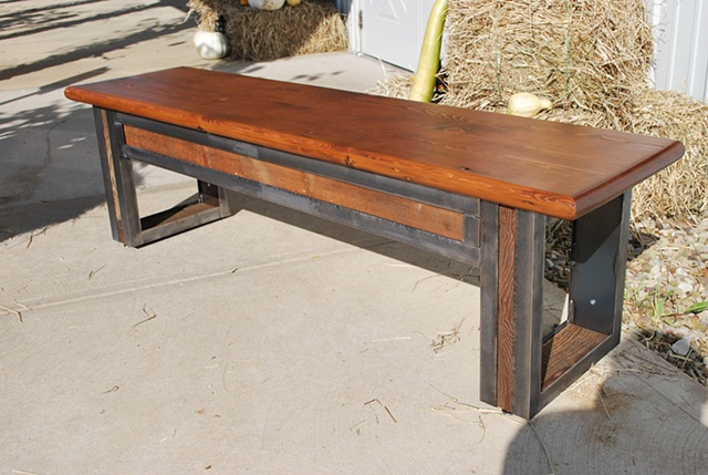 """""""Loyalhanna Bench"""" made from reclaimed wood"""