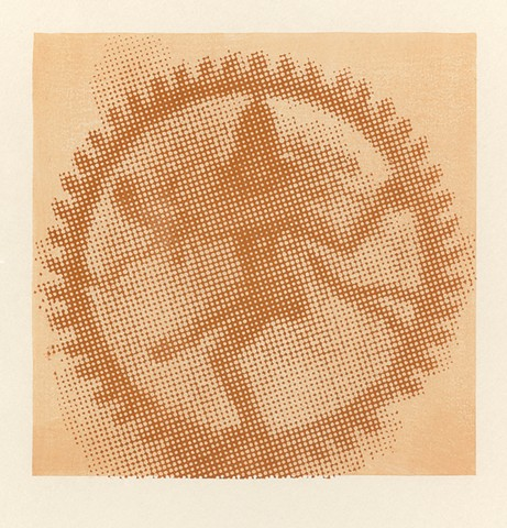 halftone woodcut of dancing shiva
