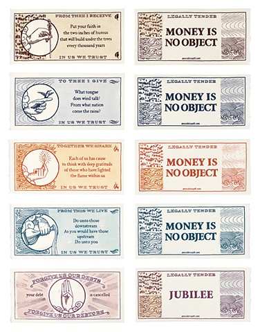 artist money, currency by Annie Bissett