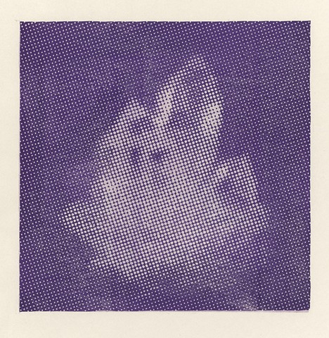 halftone woodcut of quartz crystals