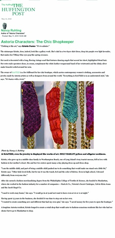 Holy Harlot Jewelry Handmade Designer Jewelry NYC Magdalen Sarris KrisTees Huffington Post