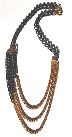 Holy Harlot Jewelry Gold Black Desire Necklace Tiered Gold Hematite Holy Harlot Jewlery Handmade NYC