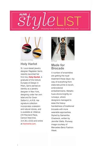 Holy Harlot Jewelry Alive Magazine Gem Authentic Snakeskin Python Exotic Skin Earrings Signature Holy Harlot Jewelry