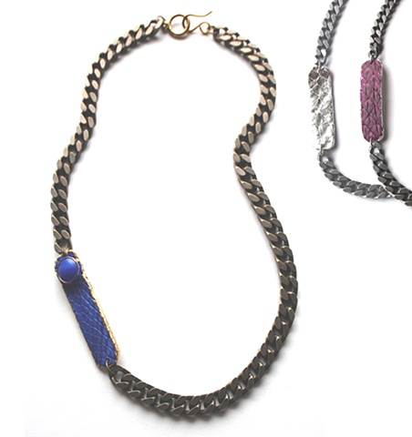 Holy Harlot Jewelry Slim Graffiti Tag Snakeskin Necklace