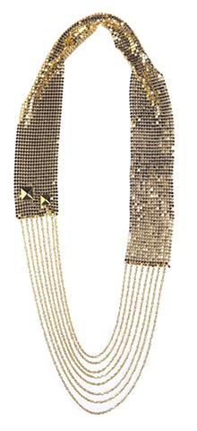 Holy Harlot Jewelry Disco Gold Mesh Chains Rivets Handmade