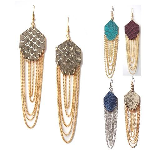Holy Harlot Jewelry Gem Authentic Snakeskin Python Exotic Skin Earrings Signature Holy Harlot Jewelry