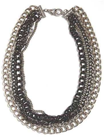 Holy Harlot Jewelry Fade to Black Necklace Silver Hematite Curb Chains Holy Harlot Jewelry Handmade NYC