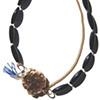 TEAROOM NECKLACE Gilt & Black Agate