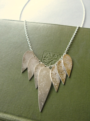 thorn and leaf necklace