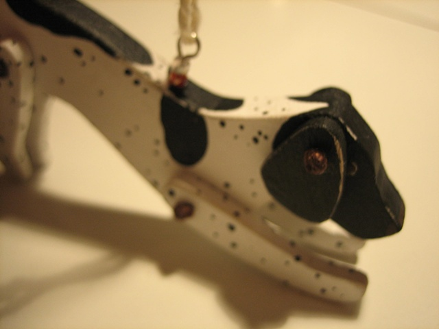 wooden english pointer jointed ornament