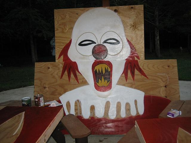 devil evil clown haunted forest halloween
