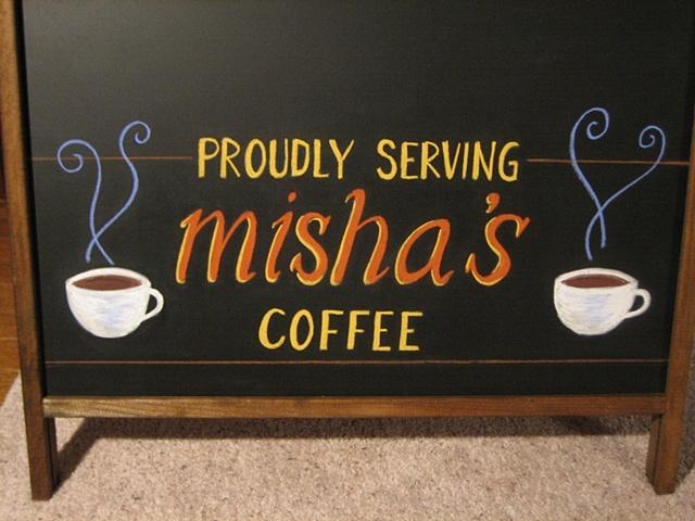 chalk pastel cafe 1612 restaurant chalkboard sign