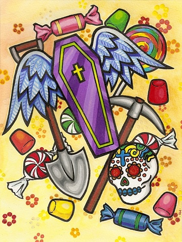 coffin candy day of the dead